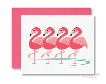 Flamingo Notecards / Bird Notecards / All Occasion Notecards / Blank Notecards / Thank You Card