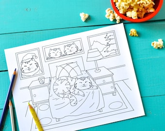 Download and Print eBook - Lazy-Ass Cats: A Coloring Book for Adults