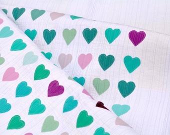 """PDF Pattern: Modern Applique Heart Quilt Tutorial (48"""" x 66"""" Lap Size)"""