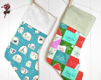 Quilted Christmas Stocking Pattern for Beginners: PDF Download