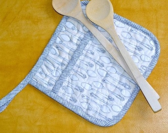 Giant Quilted Pot Holder with Pocket: Easy PDF Sewing Pattern for Beginners