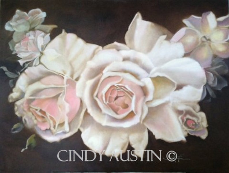 Rose Painting  giclee print image 0
