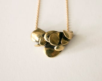 abstract pendant with snake scales, minimalistic necklace, nature inspired jewelry