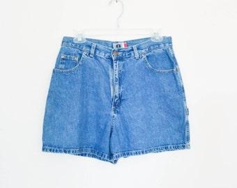 834a5d32a6 90's High Rise Grunge Denim Shorts size - M/L waist 29