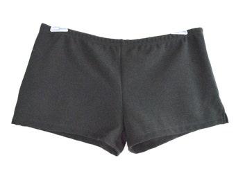 Wink Split Micro Shorts Small, Black wetllok//mesh