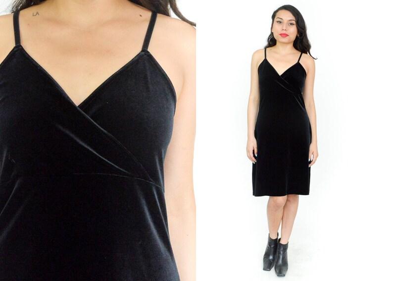60e514692e7a6 VELVET MIDI DRESS. 90's Velvet Midi Dress. Vintage Mod | Etsy