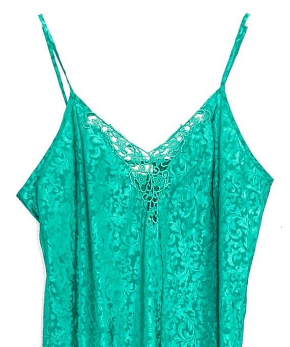 90s Slip Dress Mini Satin Slip Dress Lingerie Gre… - image 3