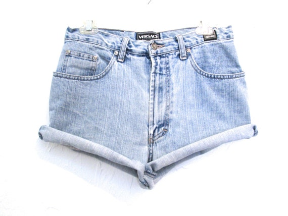 Denim Cutoffs Shorts VERSACE Cut Off Shorts 90s De