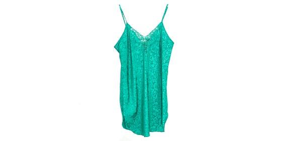 90s Slip Dress Mini Satin Slip Dress Lingerie Gre… - image 1
