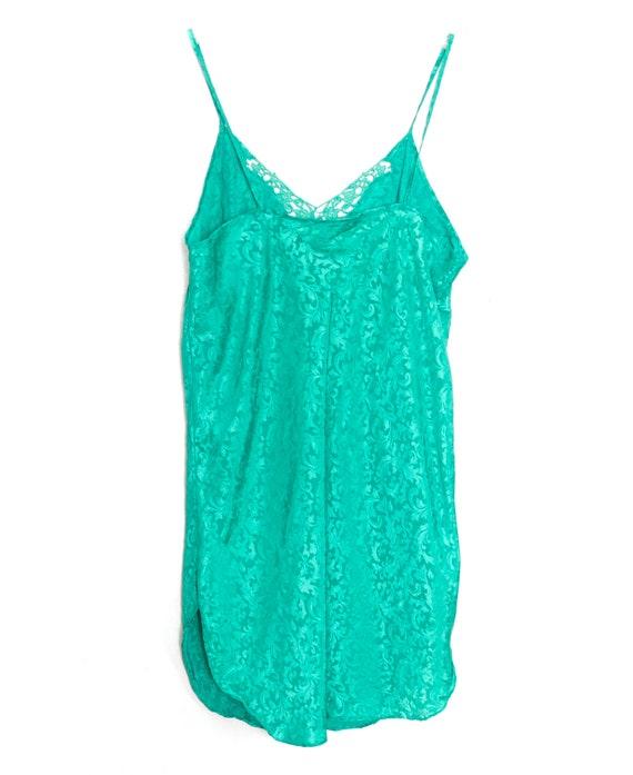90s Slip Dress Mini Satin Slip Dress Lingerie Gre… - image 7