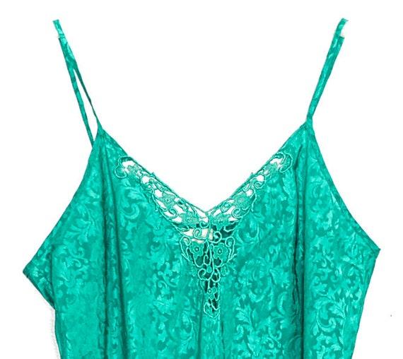 90s Slip Dress Mini Satin Slip Dress Lingerie Gre… - image 4