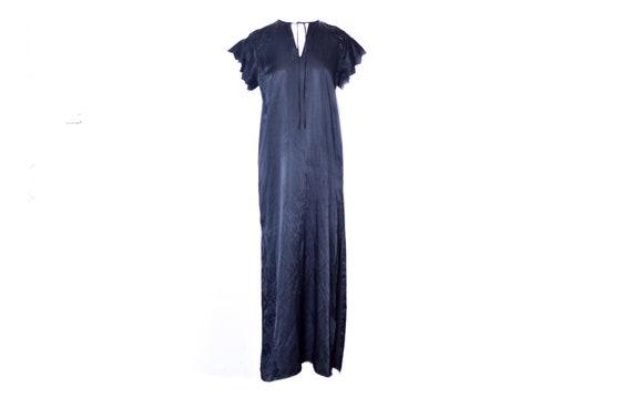 80s Satin Dress by GIVENCHY Black Lingerie Satin B