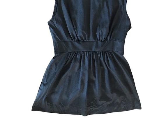 70's Slip Mini  Dress Micro Mini  70's Black Whit… - image 5