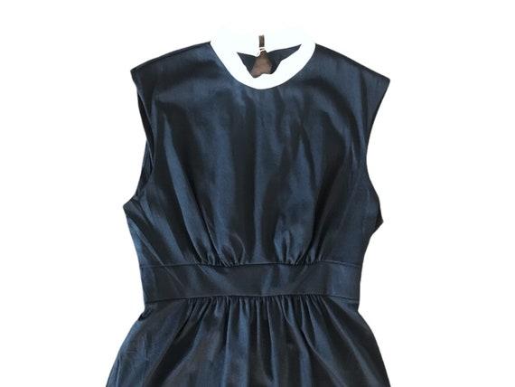 70's Slip Mini  Dress Micro Mini  70's Black Whit… - image 4