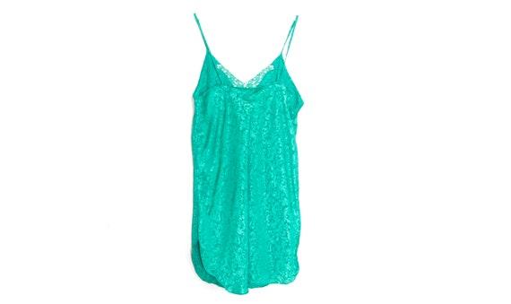 90s Slip Dress Mini Satin Slip Dress Lingerie Gre… - image 8