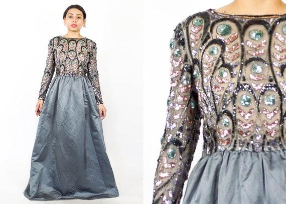 vintage pailletten kleid