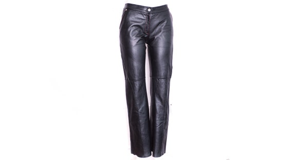 00s Leather Pants Black Leather Jeans Bootcut Leat