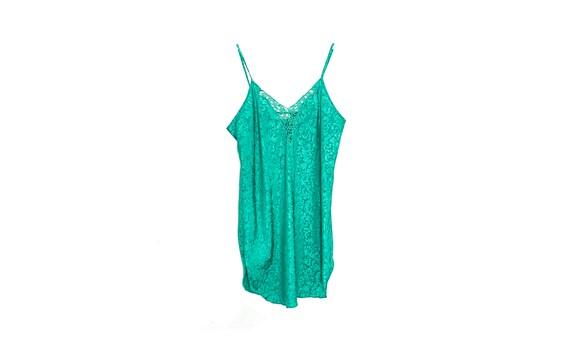 90s Slip Dress Mini Satin Slip Dress Lingerie Gre… - image 6