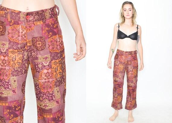 Floral Trousers 90's FLORAL PATCHWORK  Pants 90s H