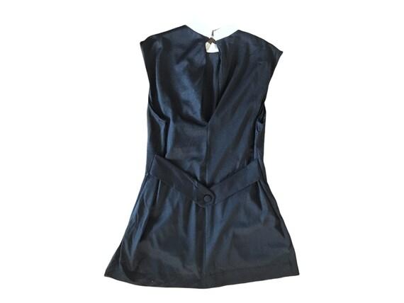 70's Slip Mini  Dress Micro Mini  70's Black Whit… - image 6