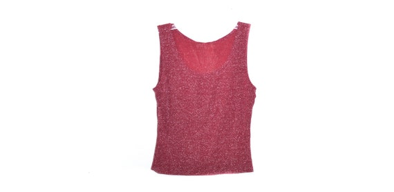 bright red blouse club kid 90/'s red sleeveless mock neck blouse grunge mod blouse