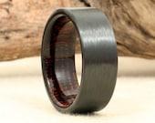 Carbon Fiber and Koa Ring