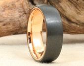 Black Zirconium and 14k Gold Ring
