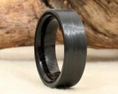 Carbon Fiber and Ancient Bog Oak Ring
