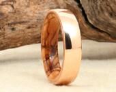 Wood Ring - Rose Gold and Bethlehem Olivewood