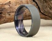 Damascus Titanium Mokume-Ti Ring