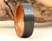 Carbon Fiber and Bourbon Barrel Oak Ring