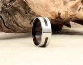 Bog Oak and Cobalt Ring