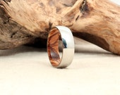 Wooden Ring Lined with Bethlehem Olivewood and Cobalt