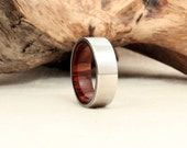 Cobalt and Wood Ring Lined with Snakewood