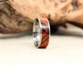Arizona Desert Ironwood Wood Ring Lined With Titanium