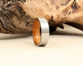 Cobalt Ring Lined with Argetine Lignum Vitae Tree of Life Wooden Ring