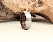 Cobalt Wooden Ring Lined with Pheasantwood