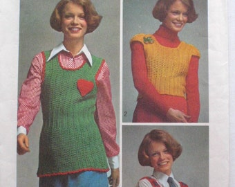 Crochet Instructions for Three Pullover Tops - Simplicity 5175 - Sizes Small (8-10) and Medium (12-14) - Bust 31 1/2 - 36