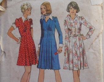 UNCUT Shirt dress Bust 38 Simplicity 6332 for a Lady/'s  Women 12 Size