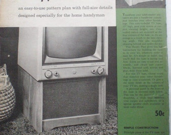 1950's Woodworking Plans - Better Homes and Gardens Handy Plan 104, Television Base, Unopened