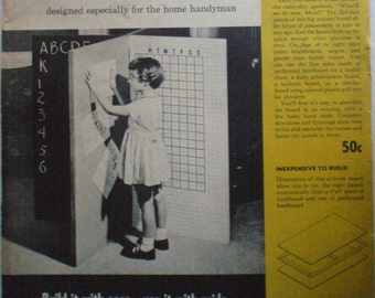 Better Homes and Gardens Handy Plan 115, 1950's Woodworking Plans For A Childrens' Activity Board - Unopened