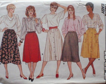 Butterick 6305 - Flared and A-Line Skirt Sewing Pattern - Sizes 14-16-18, Waist 28-32, Uncut