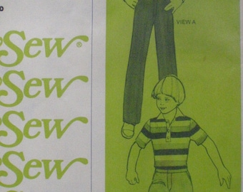 Stretch and Sew 920 - Boys Pants and Shorts Sewing Pattern - Waist Sizes 20-21-22-23, Uncut