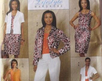 SALE - Butterick Lifestyle Sewing Pattern - Lined Jacket, Tunic, Dress and Pants - Butterick 5471 - Sizes 14-16-18-20, Bust 36 - 42, Uncut