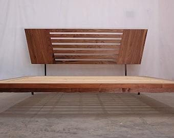 Modern Platform Bed and Headboard