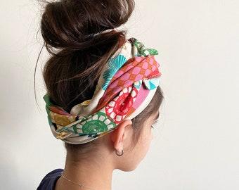 Retro print wire hair wrap | Flexible wire
