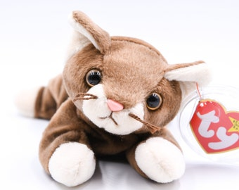 8f8015877c3 TY Beanie Baby Pounce the Cat + 1997 + Retired + Rare + PVC Pellets + No  Errors + Charity