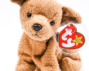 42d429a52f1 TY Beanie Baby Tuffy the Dog + 1996 + Retired + Rare + Many Tag Errors + PVC  Pellets + Charity