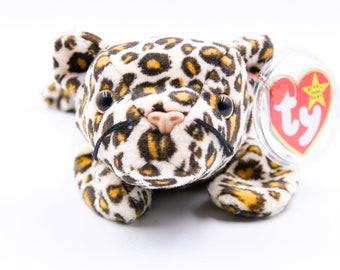 343f68892ef TY Beanie Baby Freckles the Leopard + 1996 + Retired + Very Rare + PVC  Pellets + Tag Errors + Charity