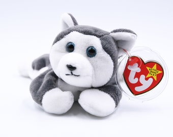72dcce03f24 TY Beanie Baby Nanook the Husky + 1996 + Retired + Very Rare + PVC Pellets  + Tag Errors + Charity